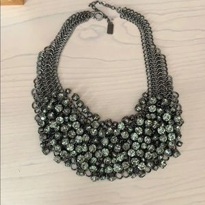 Kenneth Cole grey gunmetal costume necklace new